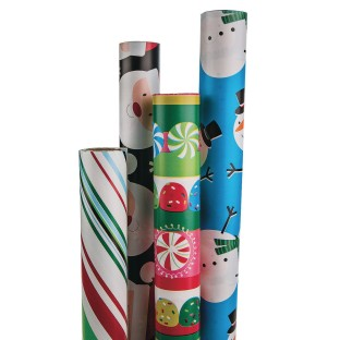 Best Value Assorted Christmas Gift Wrap (Pack of 4) - Image 1 of 3