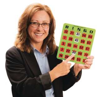 Oversized EZ Read Slide Bingo Card (Pack of 25) - Image 1 of 6