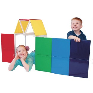 Panelcraft® Rainbow Solids Magnetic Building 19-Piece Set - Image 1 of 1