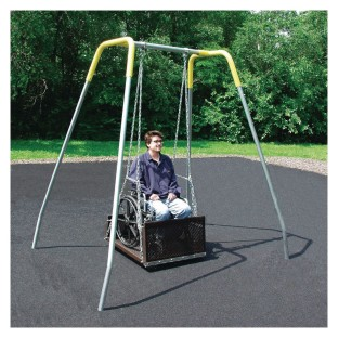 ADA Wheelchair Swing, Chain 2-3/8 Top Rail - Image 1 of 1