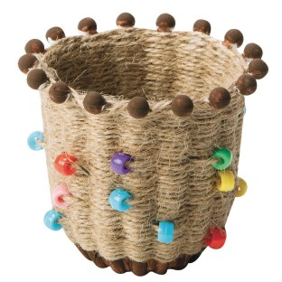 Buy Ancient Culture Jute Basket Craft Kit Pack Of 24 At S S Worldwide