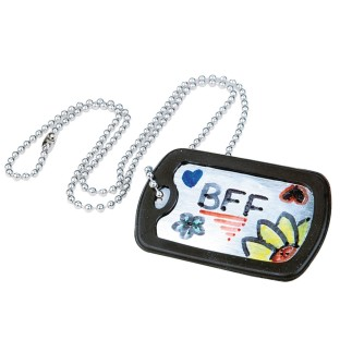 Dog Tag Necklaces Craft Kit (Pack of 12) - Image 1 of 3