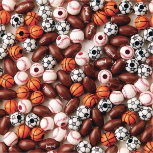 Color Splash!® Sport Bead Assortment (Bag of 600) - Image 1 of 1