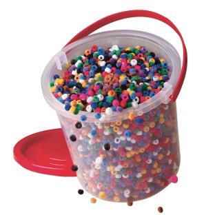 Color Splash!® Fuzzy Pony Bead Bucket - Image 1 of 1