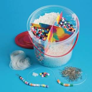 Color Splash!® Glow Pony Bead Bucket Easy Pack - Image 1 of 1