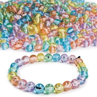 Color Splash!® Pastel Happy Face Bead Assortment - Image 1 of 1