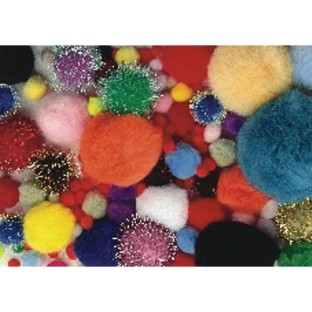 Color Splash!® Mixed Pom Pom Assortment - Image 1 of 1