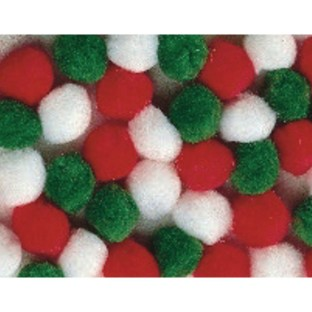 Color Splash!® Holiday Pom Pom Assortment, 1