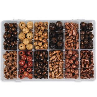 Wood Bead Assortment in Box - Image 1 of 2