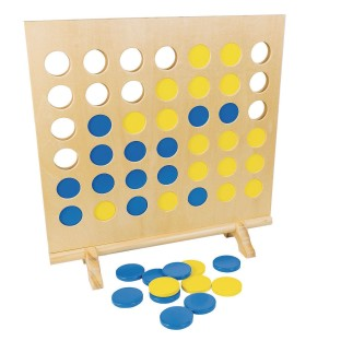 Giant Wooden 4 in a Row XL Game - Image 1 of 3