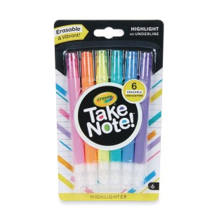 Crayola® Take Note!™ Erasable Highlighters (Pack of 6) - Image 1 of 4