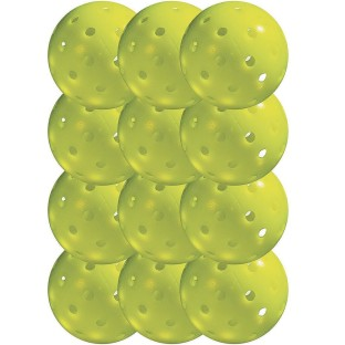 Franklin® Outdoor Optic Yellow Pickelballs, USAPA Approved (Pack of 12) - Image 1 of 3
