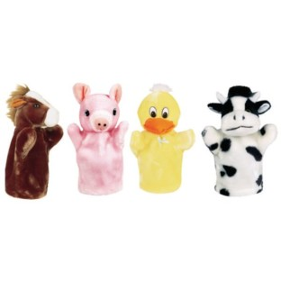 Animal Hand Puppet Set: Farm (Set of 4) - Image 1 of 1