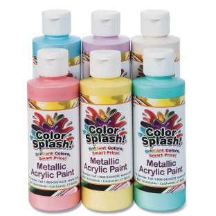 Color Splash!® Metallic Acrylic Paint Assortment, 8 oz. (Set of 6) - Image 1 of 2