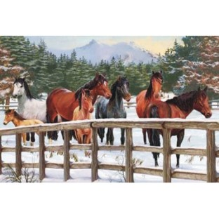 Snowy Pasture 35-Piece Tray Puzzle - Image 1 of 1
