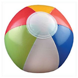 "Multicolored Beach Ball, 6"" (Pack of 12) - Image 1 of 1"