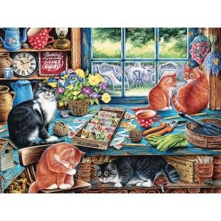 Cat's Retreat Easy Handling Puzzle, 275 Pieces - Image 1 of 1