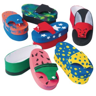 Paper Mache Flip-Flop Box Craft Kit (Pack of 12) - Image 1 of 2
