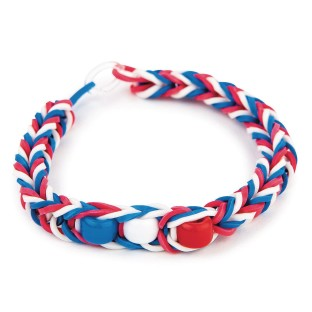 Patriotic Rubber Band Bracelet Craft Kit (Pack of 48) - Image 1 of 2