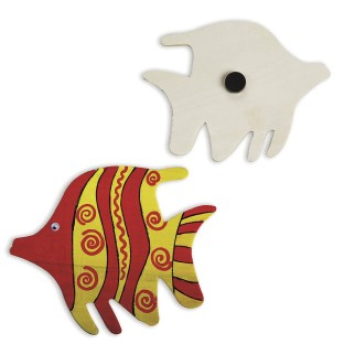 Tropical Fish Wood Magnet Craft Kit (Pack of 12) - Image 1 of 3