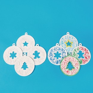 Color-Me™ Embossed Holiday Ornaments - Image 1 of 3