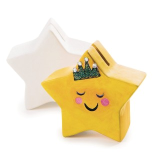 Color-Me™ Ceramic Bisque Star Banks (Pack of 12) - Image 1 of 2