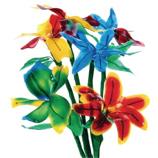 Flexible Fun Flowers Craft Kit (Pack of 24) - Image 1 of 4