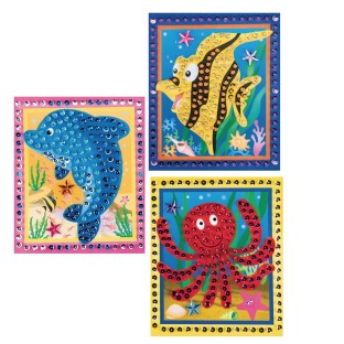 Sea Life Sequin Picture Craft Kit (Pack of 12) - Image 1 of 2