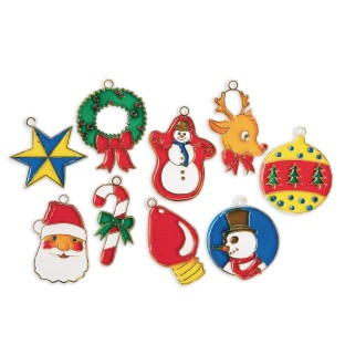 Christmas Cuties Stain-A-Frames Craft Kit (Pack of 18) - Image 1 of 2