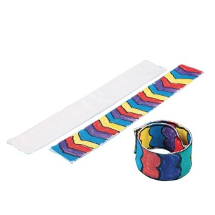 Color-Me™ Fabric Slap Bracelet (Pack of 24) - Image 1 of 1