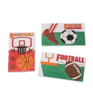 Sports Sand Art Boards Craft Kit (Pack of 24) - Image 1 of 1