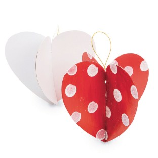 Color-Me™ 3-D Paper Heart Ornament (Pack of 24) - Image 1 of 1
