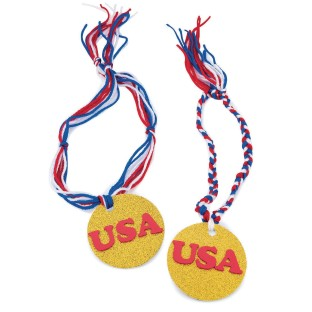 Go for the Gold Medals Craft Kit (Pack of 48) - Image 1 of 2