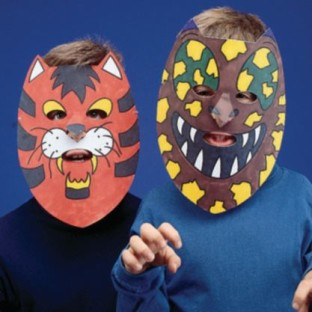 Animal Masks Craft Kit (Pack of 24) - Image 1 of 6