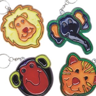 Zoo Sun Catcher Keychains© Craft Kit (Pack of 12) - Image 1 of 2