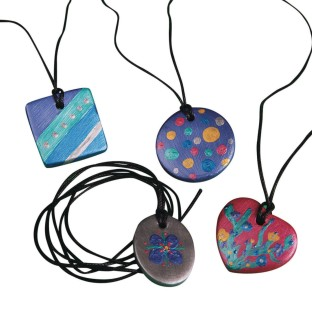 Bisque Pendant Necklaces Craft Kit (Pack of 24) - Image 1 of 4