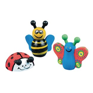 Wooden Bee, Butterfly and Ladybug Craft Kit (Pack of 12) - Image 1 of 1