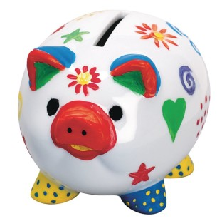 Piggy Banks Craft Kit (Pack of 12) - Image 1 of 5