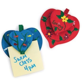 Heart-To-Heart Note Holders Craft Kit (Pack of 24) - Image 1 of 2