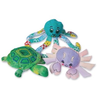 Color-Me™ Fabric Sea Life Creatures (Pack of 12) - Image 1 of 6