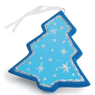 Color-Me™ Ceramic Bisque Tree Ornament (Pack of 24) - Image 1 of 2