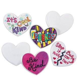 Color-Me™ Heart Pin (Pack of 24) - Image 1 of 3