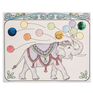Color and Foil Circus Elephants Craft Kit (Pack of 12) - Image 1 of 2
