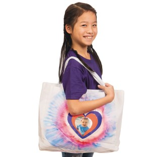 Color-Me™ Bags with Heart Photo Pocket (Pack of 12) - Image 1 of 3