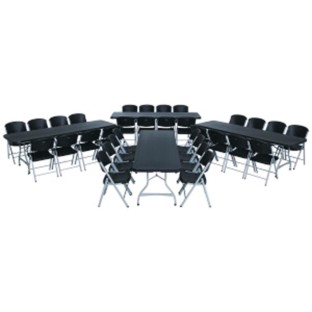 Lifetime® 4 Folding 8' Tables and 32 Chairs Value Pack,  (Set of 36) - Image 1 of 5