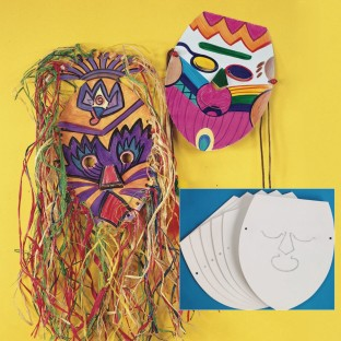 Blank Cardboard Face Masks (Pack of 25) - Image 1 of 1