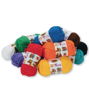Lion DIYarn Craft Yarn Assortment (Pack of 10) - Image 1 of 1