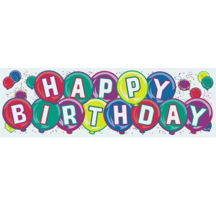 Jumbo Happy Birthday Banner - Image 1 of 1