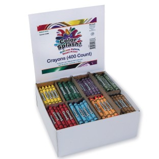 Color Splash!® Crayons PlusPack - 8 Colors (Box of 400) - Image 1 of 2