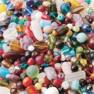 India Glass Bead Mix 1-lb Bag - Image 1 of 1